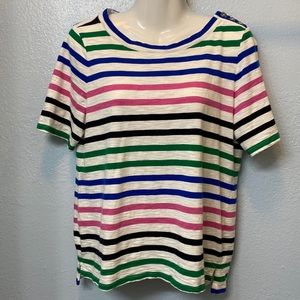 Talbots striped colorful t-shirt